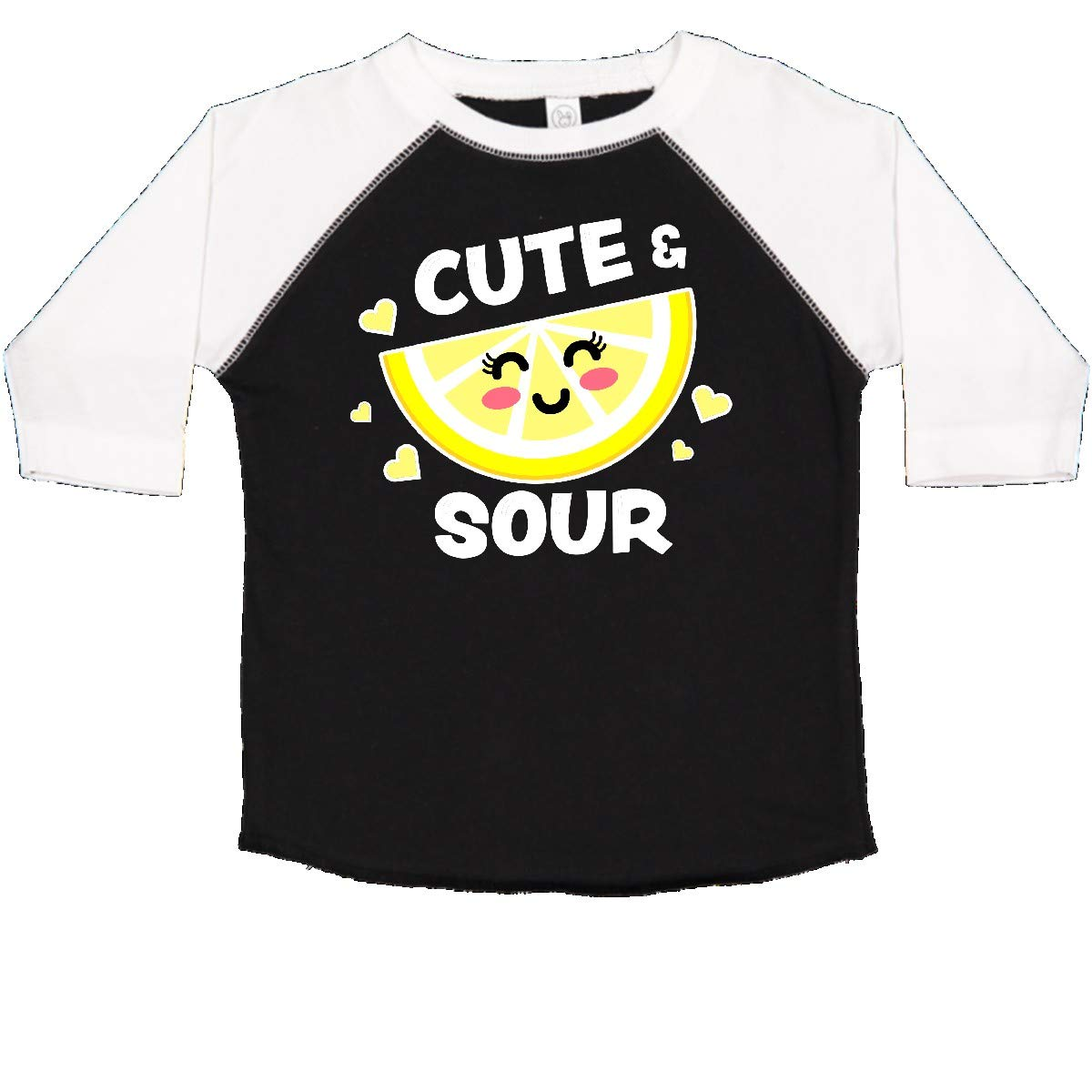 inktastic Cute and Sour with Cute Lemon with Face and Hearts Toddler T-Shirt