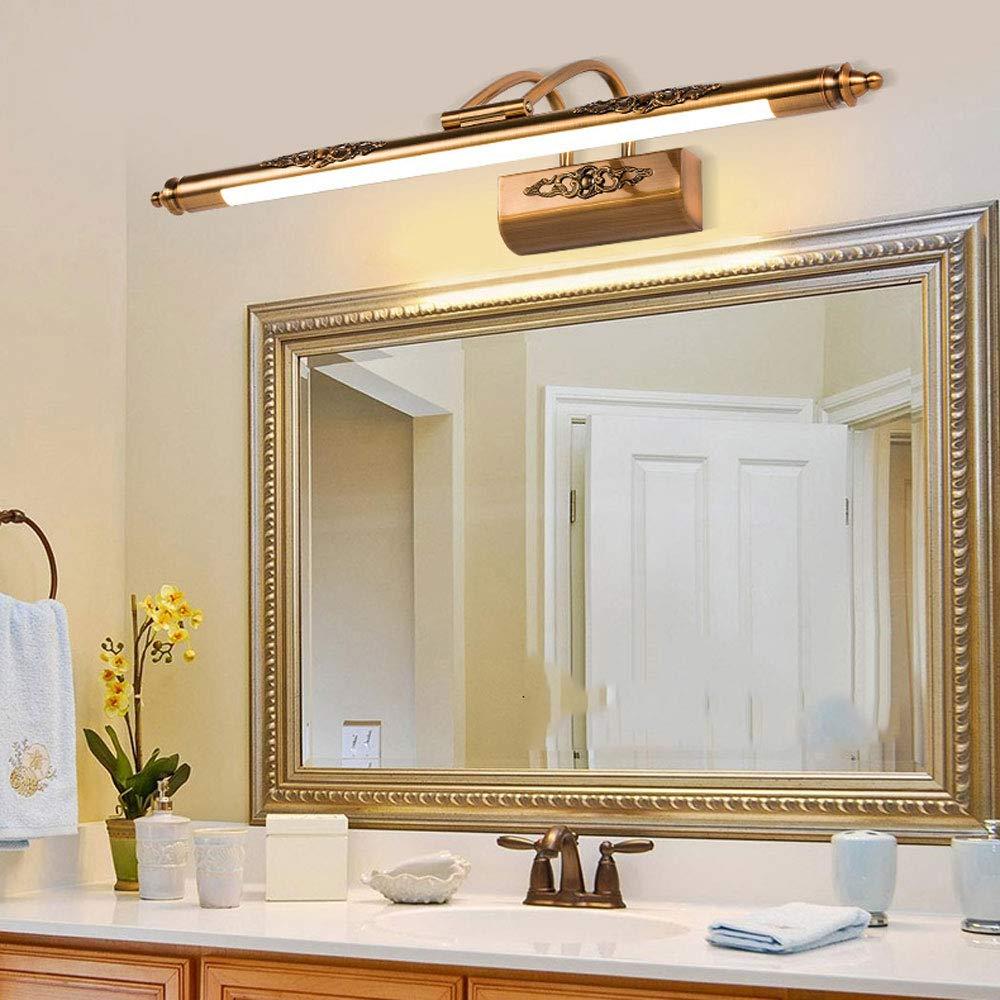 Europäische Weinlese-Spiegel-Scheinwerfer-Toilette führte amerikanische Spiegel-Lampe Badezimmer-Spiegel-Kabinett-Lampe einfache kosmetische Lampe wasserdichte Antifogging-LED-Spiegel-Eitelkeits-Leuch