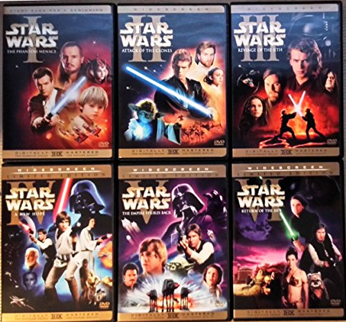 Star Wars 12 DVD Set Prequel and Original Trilogies I-III and IV-VI Widescreen