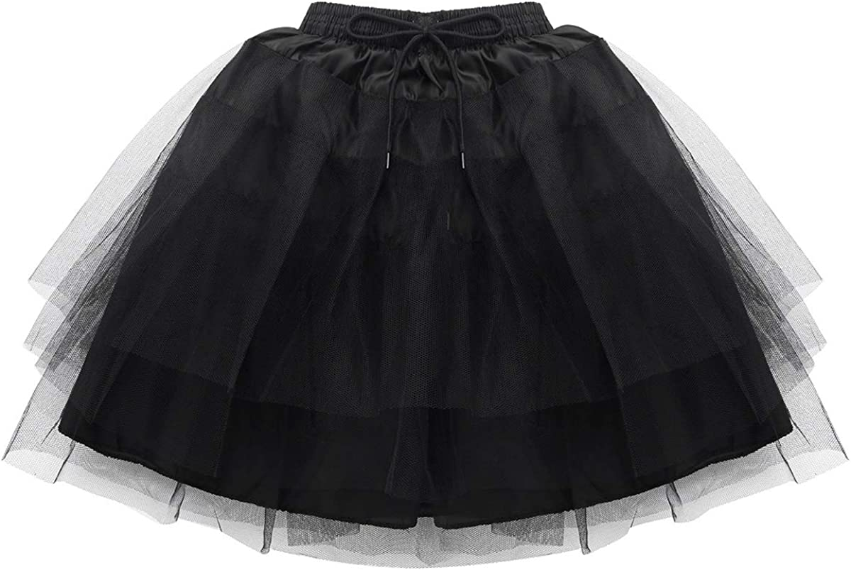 inhzoy Girls Hoopless Petticoat Underskirt Crinoline Slip with 3 Layers for Flower Girl Wedding Dress