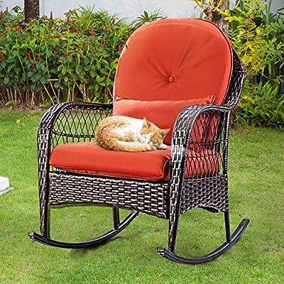 COSTWAY-Rattan-Armchair-Wicker-Rocking-Sofa-Relaxing-Lounge-Chair-Metal-Frame-with-Lumbar-Pillow-Cushion-Garden-Patio-Porch-Lawn-Deck-Backyard-Furniture