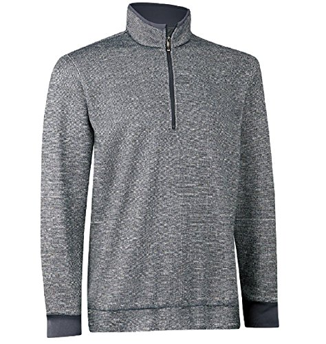 Ashworth Print Tweed Fleece Half-Zip Pullover Golf Shirt Z97277 Medium