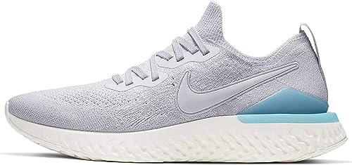 Nike Men's Epic React Flyknit 2 Running Shoes Grey/Blue