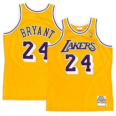 e736d7e07 Majestic Athletic Men s Los Angeles Lakers  24 Kobe Bryant 2008 Swingman  Jersey-Gold