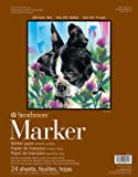 "Strathmore Paper 497-11-1 400 Series Marker Pad, 11""x14"" Glue Bound 24 Sheet"