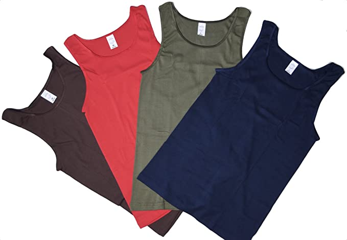 buy popular fa4f0 4c3a4 Cosy 4 bis 16 Damen Unterhemden unifarbig ohne Spitze in rot dunkelblau  Olive und braun Unterhemd ohne Arm ohne Spitze Grösse 36/38 bis 52/54  wählbar