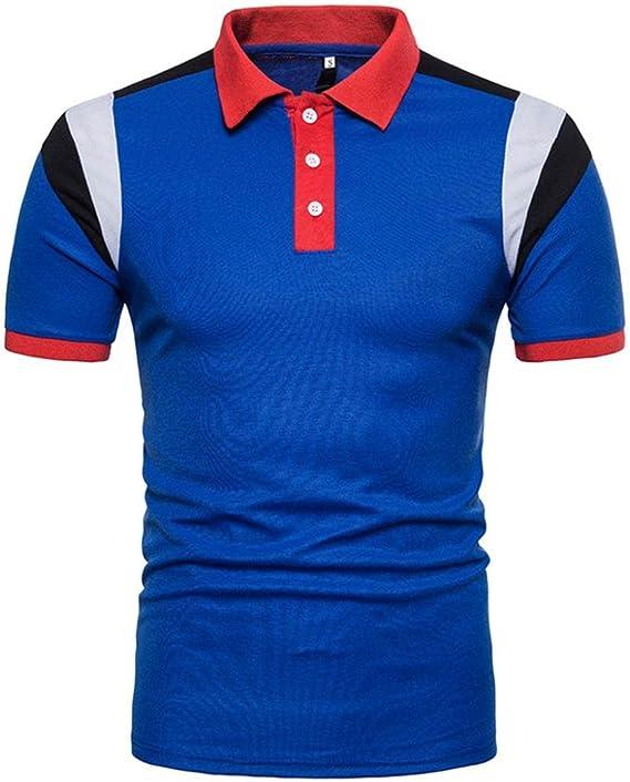 ursing manga corta – Camiseta de modischem Patchwork Slim Fit Polo ...