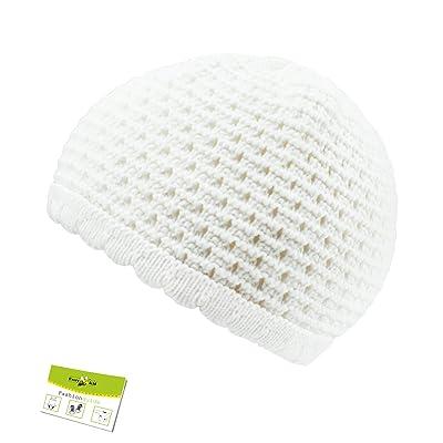Chapeau De Bébé Bonnet Baptême Casquette En Crochet Pot Garçon Nouveau-Né  Ajour Pattern Pour 4d2e9267db3
