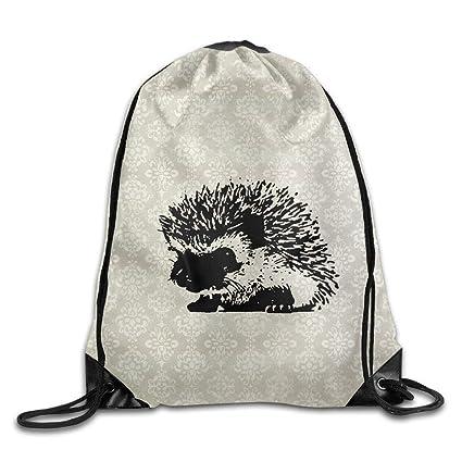 gthytjhv Hedgehog Bolsa Deportiva con cordón, Mochila para Gimnasio, para Hombres y Mujeres,