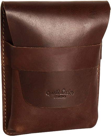 Estuche lapicero de cuero marrón Vintage: Amazon.es: Oficina y papelería