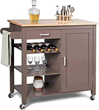 Amazon.com - Giantex Kitchen Cart, Kitchen Island Cart with ...