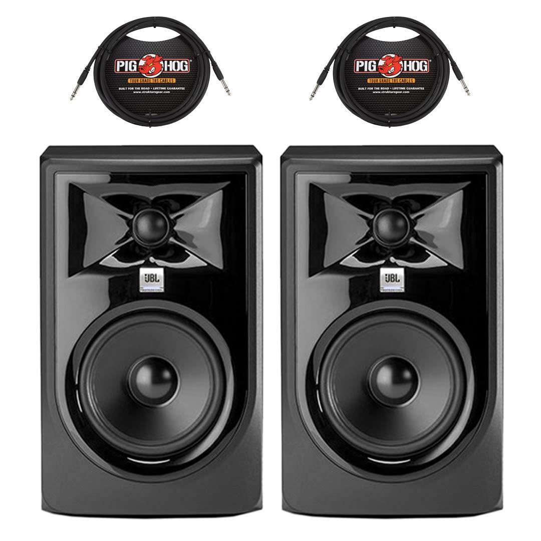 (2) JBL 305P MKII 5'' Powered Studio Monitors + (2) 10 ft. TRS Cables