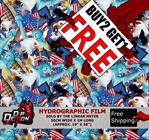 Lm All American Usa Flag Sticker Bomb Hydrographic Water Transfer Film  Hydro Dipping Dip
