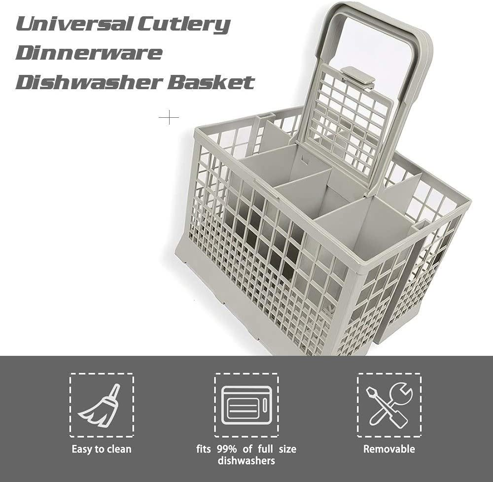 Universal Dishwasher Basket, Cutlery Dinnerware Dishwasher Basket, Replacement Rack Accessory Cutlery Holder fits for Most Dishwasher