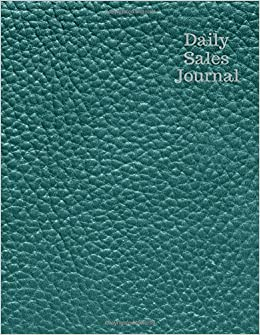 amazon com daily sales journal green leather expense ledger stock