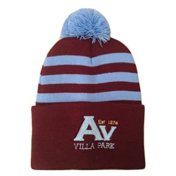 81d9bab54ee Aston Villa Supporters Chunky Knit Bobble Hat  Amazon.co.uk  Sports ...