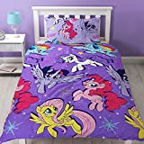My Little Pony Movie Repeat Print Design Adventure Duvet Cover Set, 2 Piece UK Single/US Twin Sheet Set, 1 x Double Sided Sheet and 1 x Pillowcase