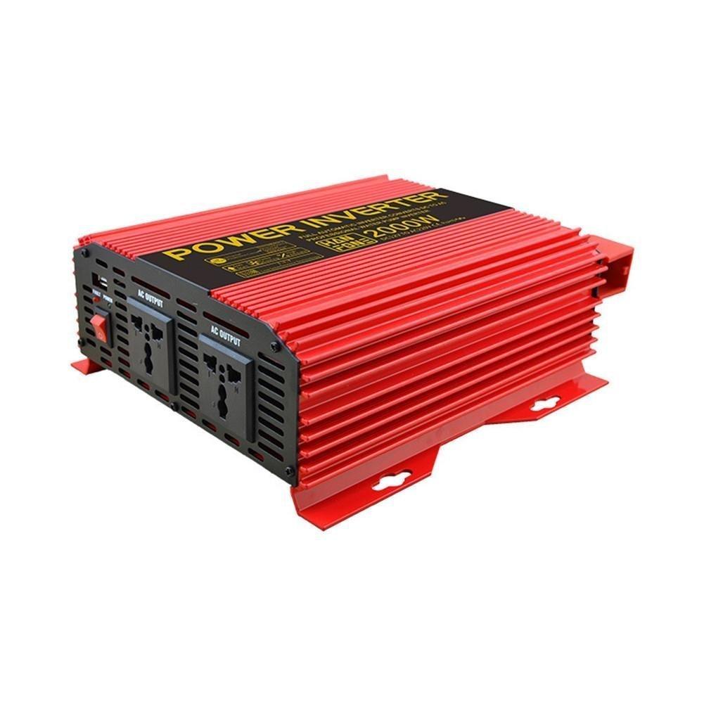 HSDMWJD Power Inverter-Power Inverter Power 2000W DC 12V bis 220V AC Solar PV Car Converter mit Zigarettenanzünder-Adapter