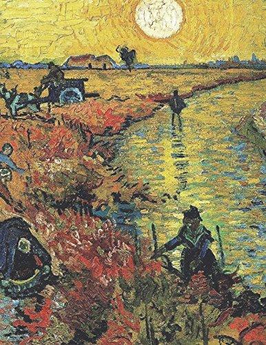 (600 Page Sketchbook: Vincent Van Gogh Red Vineyards at Arles Art Journal for Doodling and Sketching)