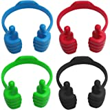 4 Packs OK Cell Phone Stands,YuCool Adjustable Flexible Silicone Cellphone Stand,Mobile Smartphone Display Holder-4…