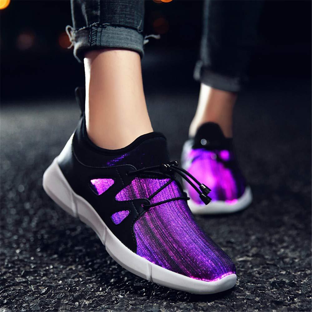 Zapatos Led Niño Niña Blancos Light Up Sports Trainer USB de Carga de 7 Colores Intermitentes Sneaker