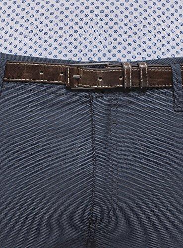 Blu Uomo Cintura Ultra Con Oodji 7975o Chino Pantaloni OYxTXw5q