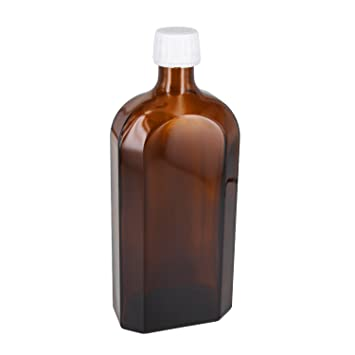 18 X 500 ml meplat Botella marrón cristal con rosca OV 28 mm blanco con base
