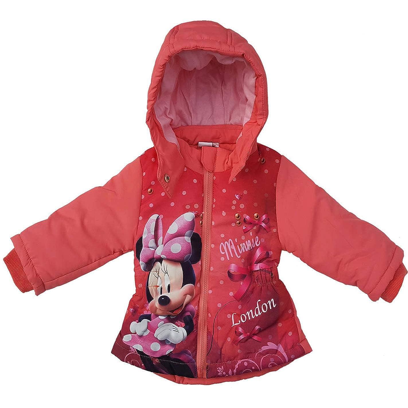 Winter-gef/üttert mit Kapuze Minnie Mouse tolles Geschenk Rot Disney Minnie Mouse Kinderjacke f/ür den Winter//Winterjacke Mantel Parka//lang Longjacke Jacke f/ür Baby//M/ädchen Kinder