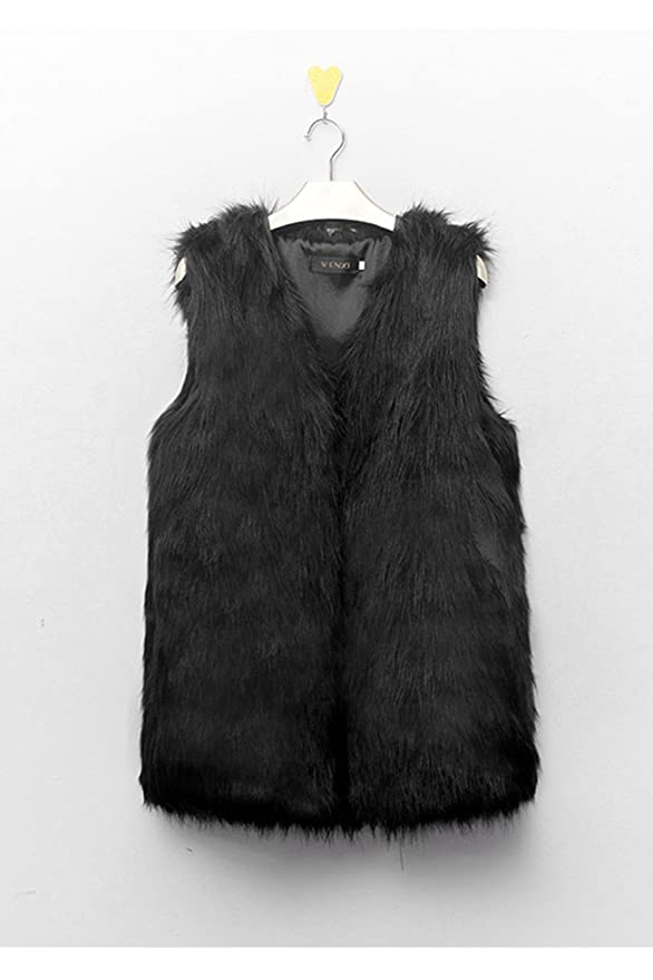 Sevozimda Women Elegant Sleeveless Faux Fur Gilet Open Front Hairy Jacket Vest Outcoat at Amazon Womens Coats Shop