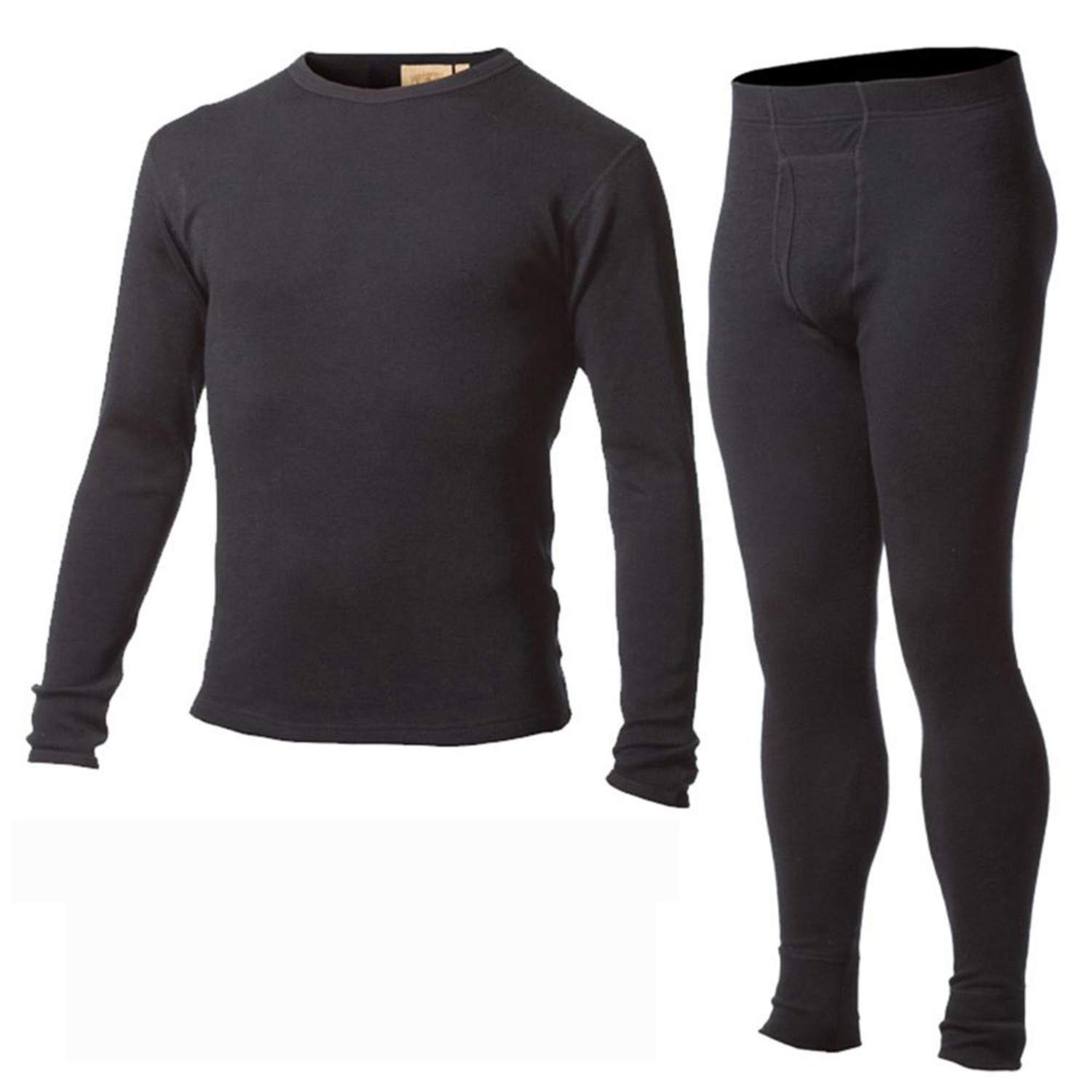 chiced Men's 100% Pure Merino Wool Winter Base Layer Thermal Warm Sweater Underwear