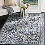 Cheap Safavieh Evoke Collection EVK216F Transitional Oriental Royal Blue and Ivory Area Rug (9′ x 12′)