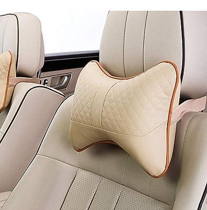 Hongge Car Head Pillow Neck Leather Massage Cushion