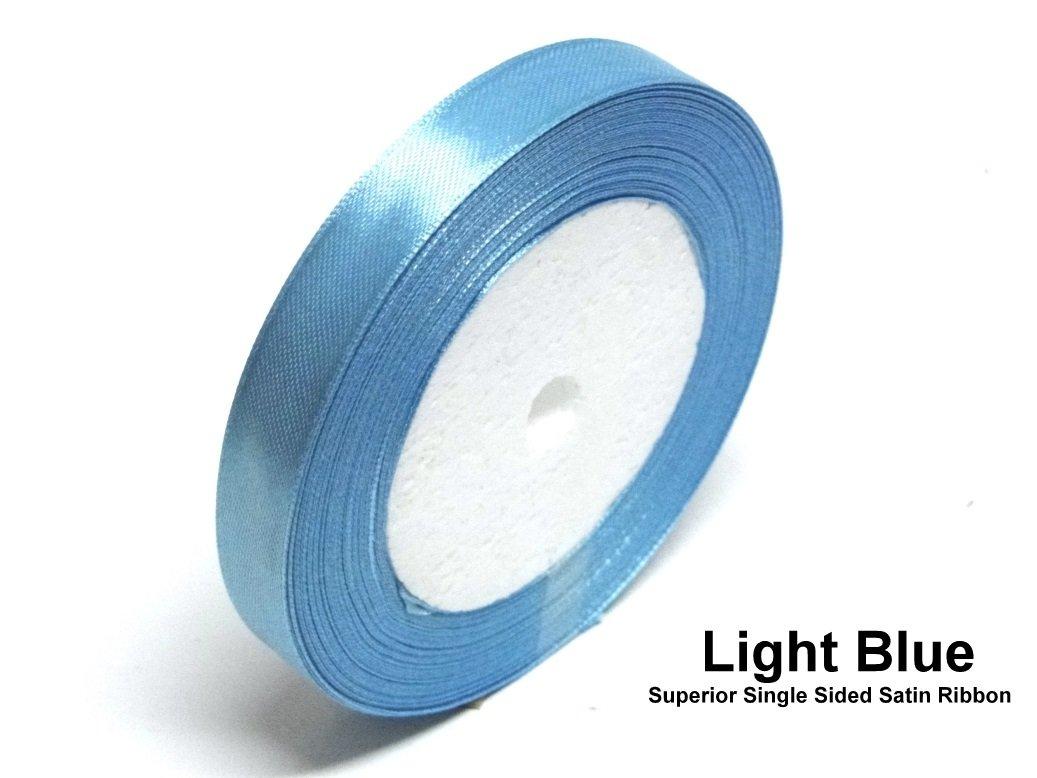 Blue 6mm Satin Ribbon Single Sided Wedding Ribbon Crafts Trimming