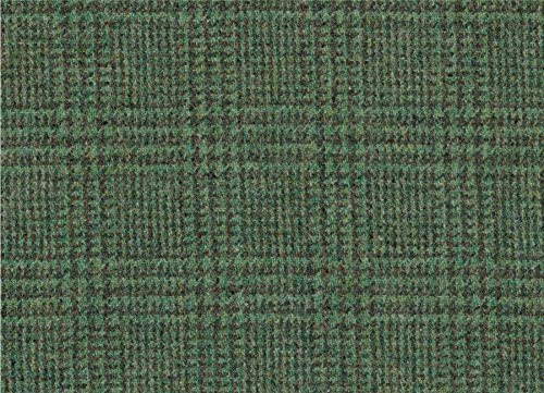 Green  100/% Wool Winter Weight Fabric by the Metre