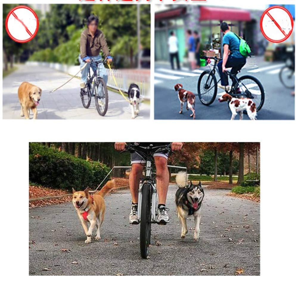 Bike Dog Leash Hand Free Exerciser Bicycle Dog Leash Traction Walking Exerciser (M) teraysun