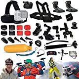 Xtech® Ultimate 33 Piece Accessory Kit for GoPro HERO4 Session - HERO4 Hero 4 - Hero3+ Hero 3+ - HERO3 Hero 3 - HERO2 Hero 2 - HD Motorsports HERO - Surf Hero - GoPro Hero Naked - GoPro Hero 960 - GoPro Hero HD 1080p - GoPro Hero2 Outdoor Edition Digital Cameras Includes: Chest Strap Mount + 2 J-hooks + Head Strap Mount + Car Suction-cup Mount + Extendable Handheld Monopod + Adjustable Bike Mount + Camera Wrist Mount + Helmet Mount + Remote Control Wrist Strap Mount + MORE