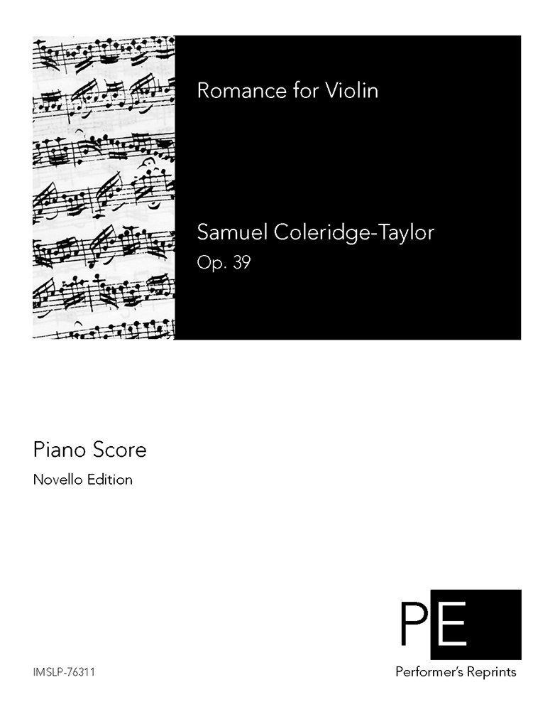 Download Romance for Violin, Op. 39 - For Violin and Piano (Wendt) pdf epub
