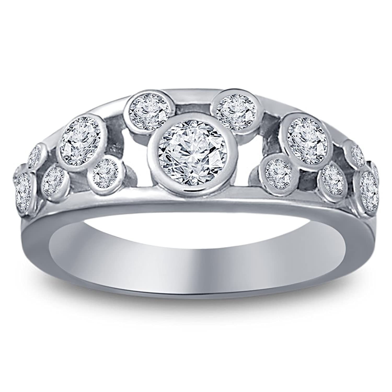 Vorra Fashion Round Cut Cubic Zirconia Sterling Silver 925 Disney