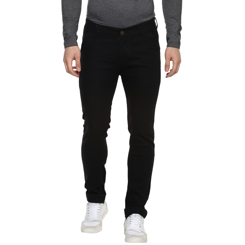 Urbano Fashion Men's Slim Fit Black Stretch Jeans