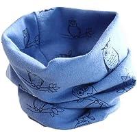 K-youth® Otoño Invierno Bufanda para Bebé Niños Niñas O Cuello Patrón de Búho Algodón Pañuelos
