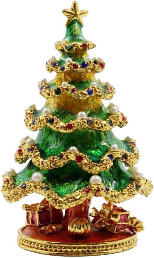 HM&DX Árbol de Navidad Caja joyero Joyas Caja de Almacenamiento Decoración casera Caja para Joyas para Don Anillos Collares Aretes -A: Amazon.es: Hogar