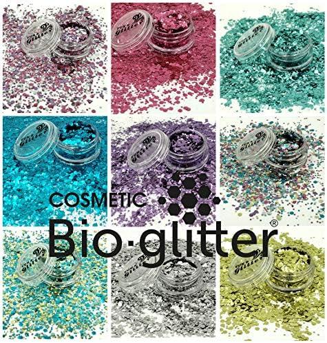 Purpurina biodegradable con colores del alrcoíris y unicornios ...