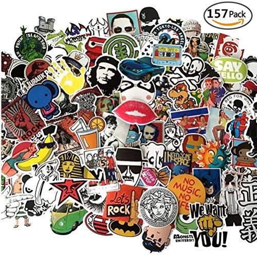Laptop Stickers Pack 150+7 Bonus Pokemon & Vinyl Waterproofing Graffiti Decal Logo Stickers for Personalize Laptops Kids Skateboard Snowboard Car Helmet Luggage Bikes - Random Sticker Pack
