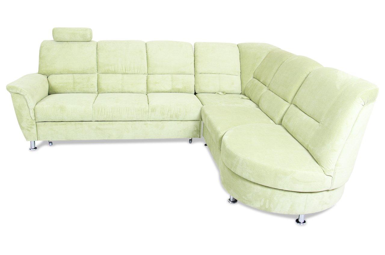Sofa city sofa rundecke 3er ecke 2er pisa webstoff gruen for Sofa 2er 3er