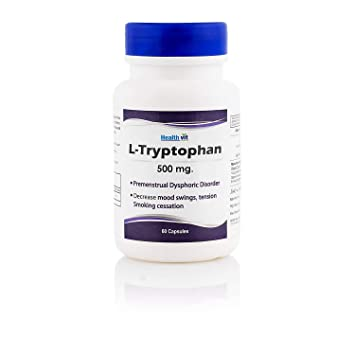 Amazon.com: healthvit L- tryptophane 500 mg 60 °Cápsulas ...