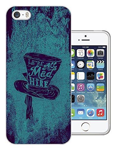 028 - Cool Funny Cartoon Mad Hatter Hat Art Design iphone 5 5S Fashion Trend Silikon Hülle Schutzhülle Schutzcase Gel Rubber Silicone Hülle
