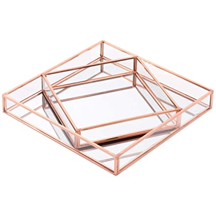 Remarkable Koyal Wholesale Glass Mirror Square Trays Vanity Set Of 2 Beatyapartments Chair Design Images Beatyapartmentscom