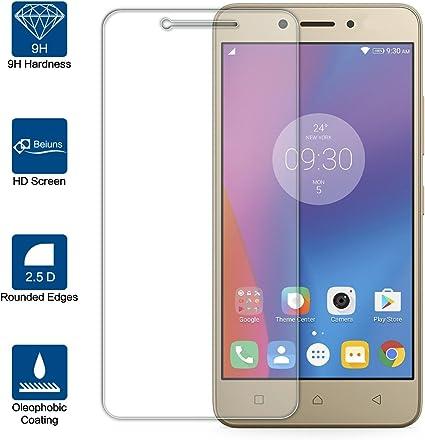 Beiuns para Lenovo K6 Note (5.5 Pulgadas) Vidrio Templado Protector de Pantalla: Amazon.es: Electrónica