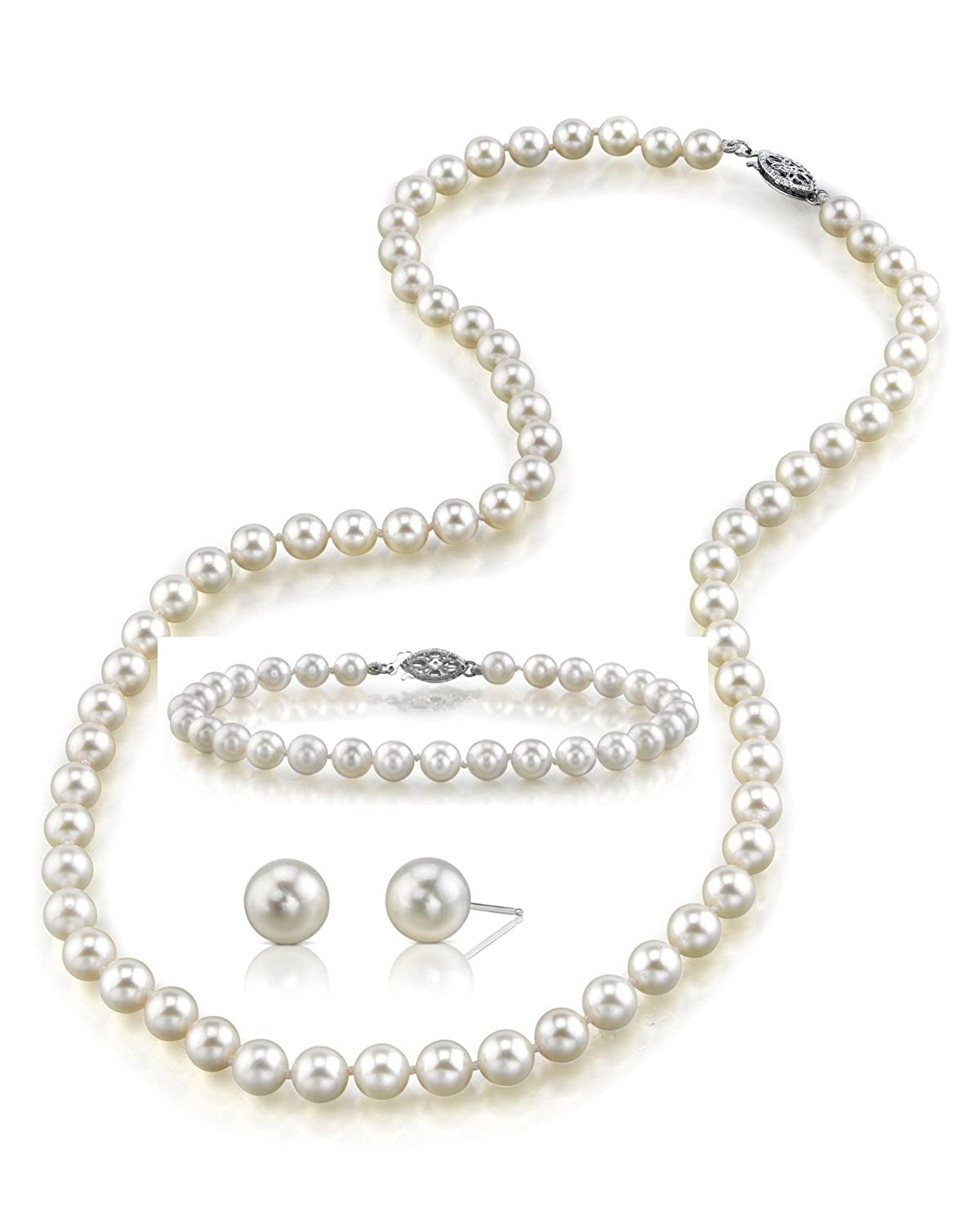 necklace round inch quality princess aaaa dp ca amazon freshwater jewelry white cultured gold pearl length