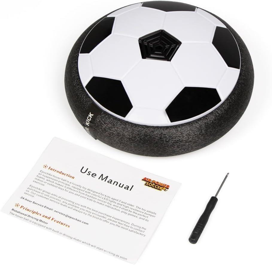 VIDEN Juguete Balón de Fútbol Flotante, Air Football on Luces LED, Formación en Casa, Fútbol Juego Interior, Niños Deportes